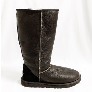 "Ugg brown leather ""Bomber"" Classic tall boots"